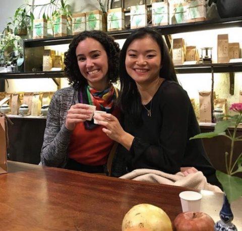 Callie en haar vriend in Shanghai
