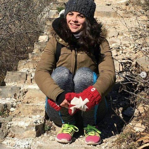 Sara op de Chinese Muur