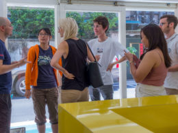Alex met nieuwe LTL studenten