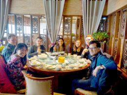 Dinertijd voor LTL Shanghai studenten