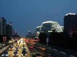 Beijing 's-nachts - Wangjing gebied