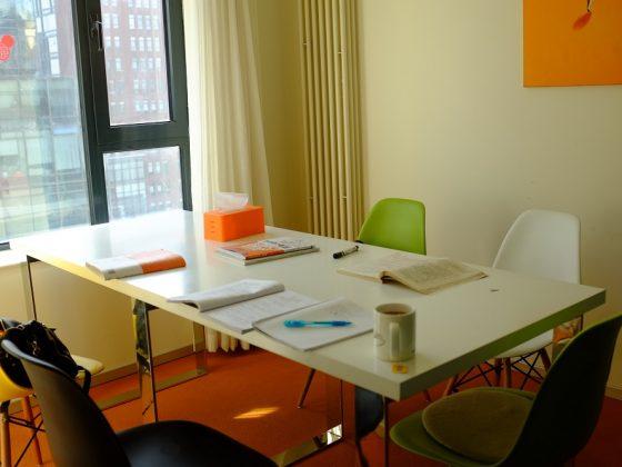 Klaslokaal voor groepslessen in Beijing