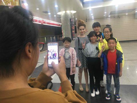 Beroemd in de Beijing Metro!