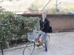 Onderweg naar de les in Chengde