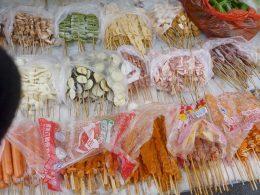 Eten op straat in Chengde