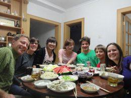 Avondeten met het Chinese Gastgezin