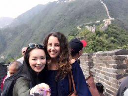 Marie en Jasmine op de Chinese Muur