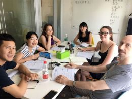 Groepsles met docent Sofia