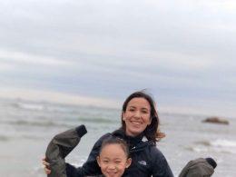 Nadia en haar gastgezin zus in Chengde