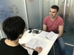 Tijd voor Chinese les in Shanghai