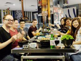 Diner met de studenten en medewerkers van LTL Shanghai