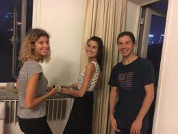 Italiaanse studenten op ons huisfeest in Beijing