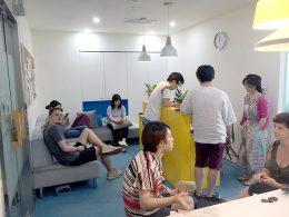 Lunchtijd bij LTL Shanghai
