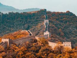 Chinees leren op de Chinese Muur