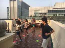 Activiteiten op het dakterras in Beijing
