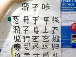 Shanghai kalligrafie les